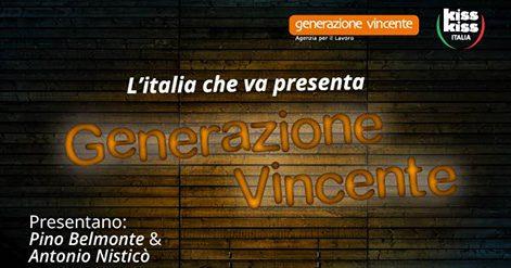 """Venerdì 07/04 la Terza puntata de """"l'Italia che va presenta: generazione vincente"""", si parlerà di Agenzie per il lavoro"""