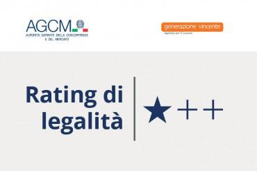 L'AGCM inserisce Generazione Vincente nell'elenco delle imprese con Rating di Legalità