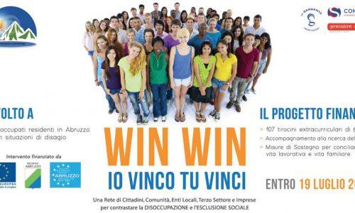 """PAL Abruzzo: """" Win-Win io vinco tu vinci """", misure contro la disoccupazione"""