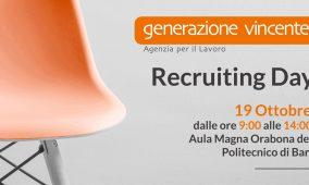 Recruiting Day presso il Politecnico di Bari il 19 ottobre 2018