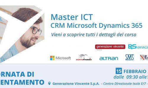 MASTER ICT CRM MICROSOFT DYNAMICS 365. Opportunità di stage retribuito.