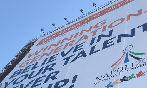 Universiade Napoli 2019 – Generazione Vincente sponsor ufficiale dell'evento