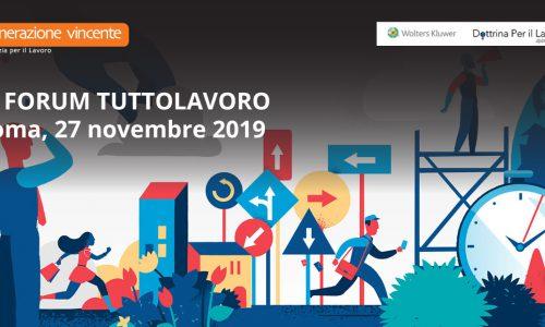 Forum TuttoLavoro 2019 – Generazione Vincente Main sponsor dell'evento