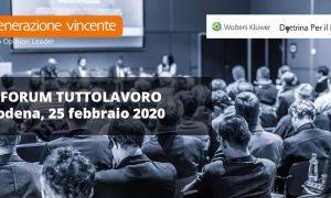 Forum TuttoLavoro Modena 2020 – Come registrarsi gratuitamente alle diretta streaming