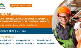 [Webinar Gratuito]  Il corretto inquadramento del personale nelle Organizzazioni di Produttori agricoli