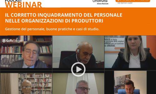 [Podcast Webinar] Il corretto inquadramento del personale nelle Organizzazioni di Produttori