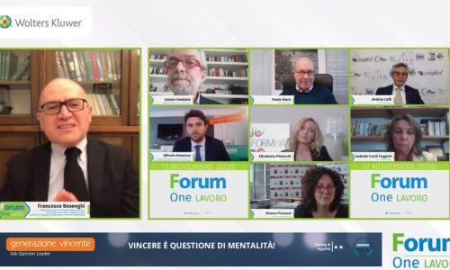 L'intervento dell' A.D. Alfredo Amoroso al Forum TuttoLavoro 2020