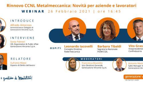[Webinar] Rinnovo CCNL Metalmeccanica: novità per aziende e lavoratori