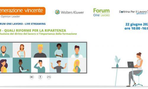 Generazione Vincente sponsor del Forum OneLavoro 2021